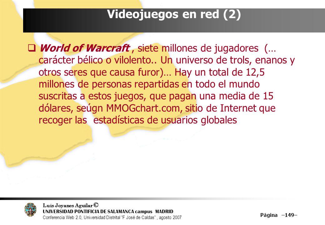 Videojuegos en red (2)