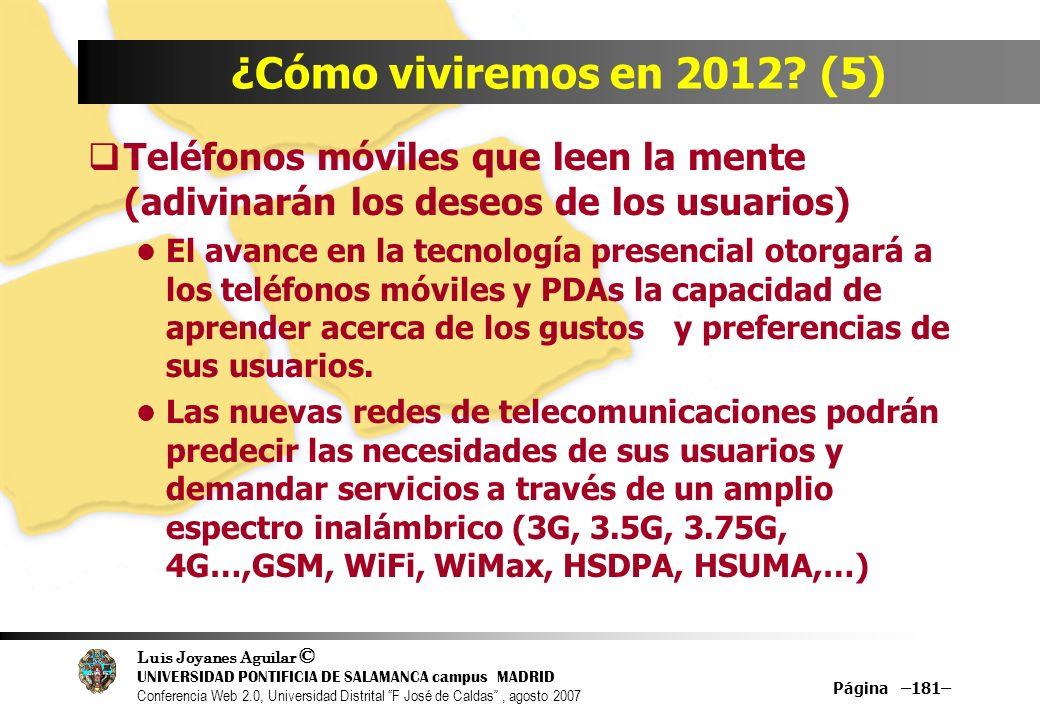 ¿Cómo viviremos en 2012 (5) Teléfonos móviles que leen la mente (adivinarán los deseos de los usuarios)