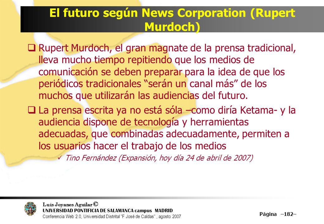 El futuro según News Corporation (Rupert Murdoch)