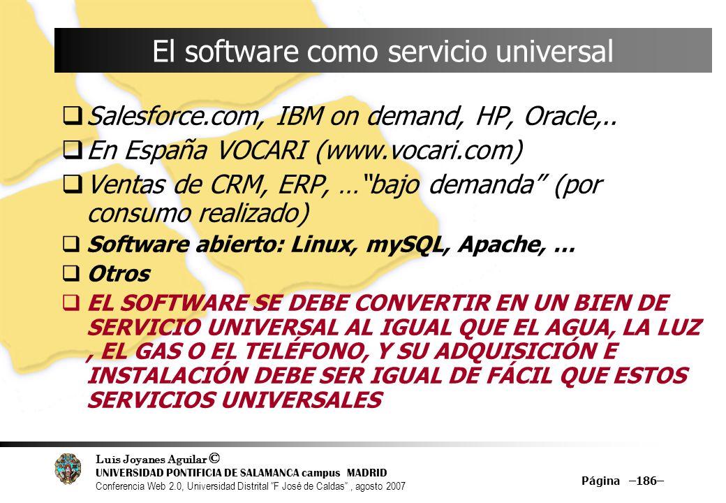 El software como servicio universal