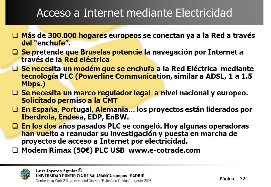 Acceso a Internet mediante Electricidad
