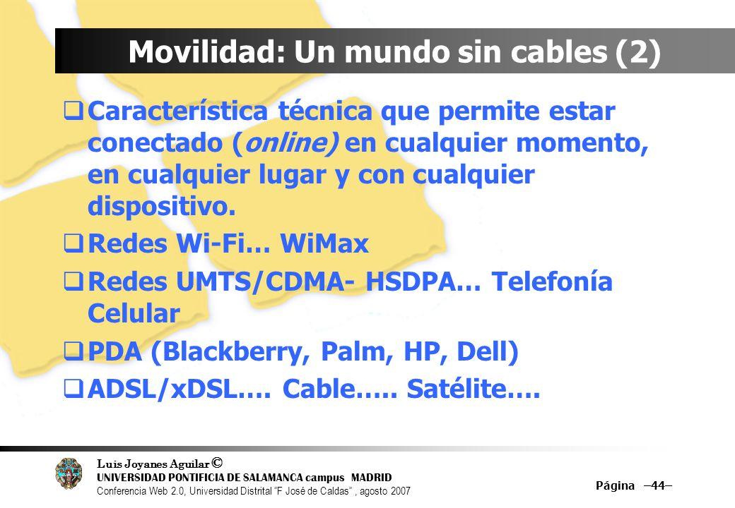 Movilidad: Un mundo sin cables (2)