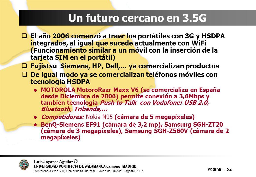 Un futuro cercano en 3.5G