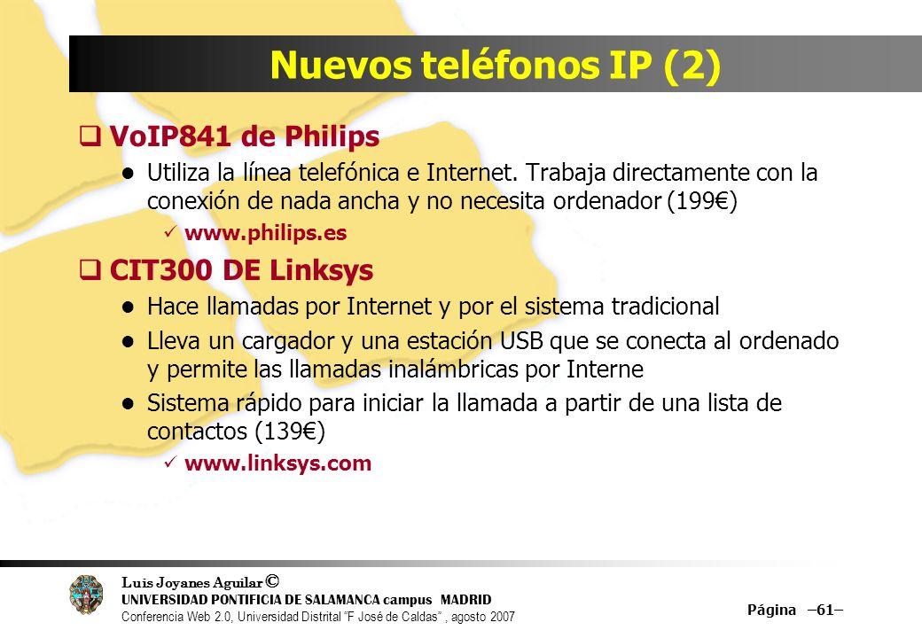 Nuevos teléfonos IP (2) VoIP841 de Philips CIT300 DE Linksys