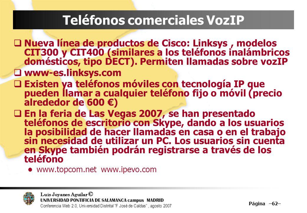 Teléfonos comerciales VozIP