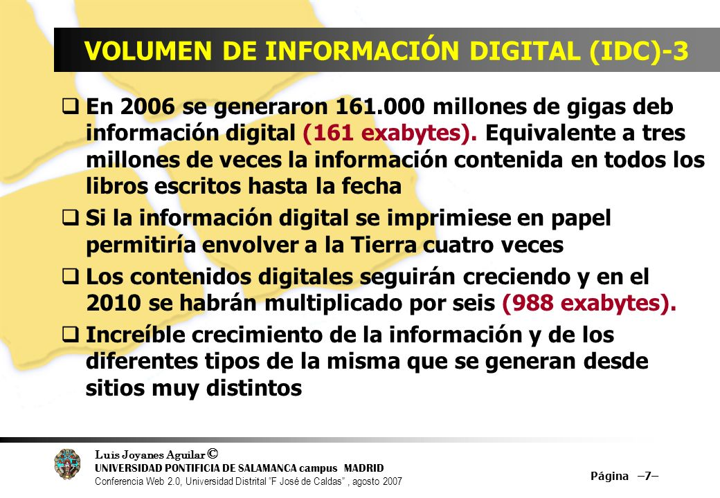 VOLUMEN DE INFORMACIÓN DIGITAL (IDC)-3