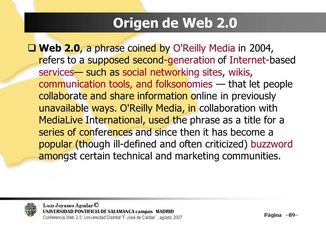 Origen de Web 2.0