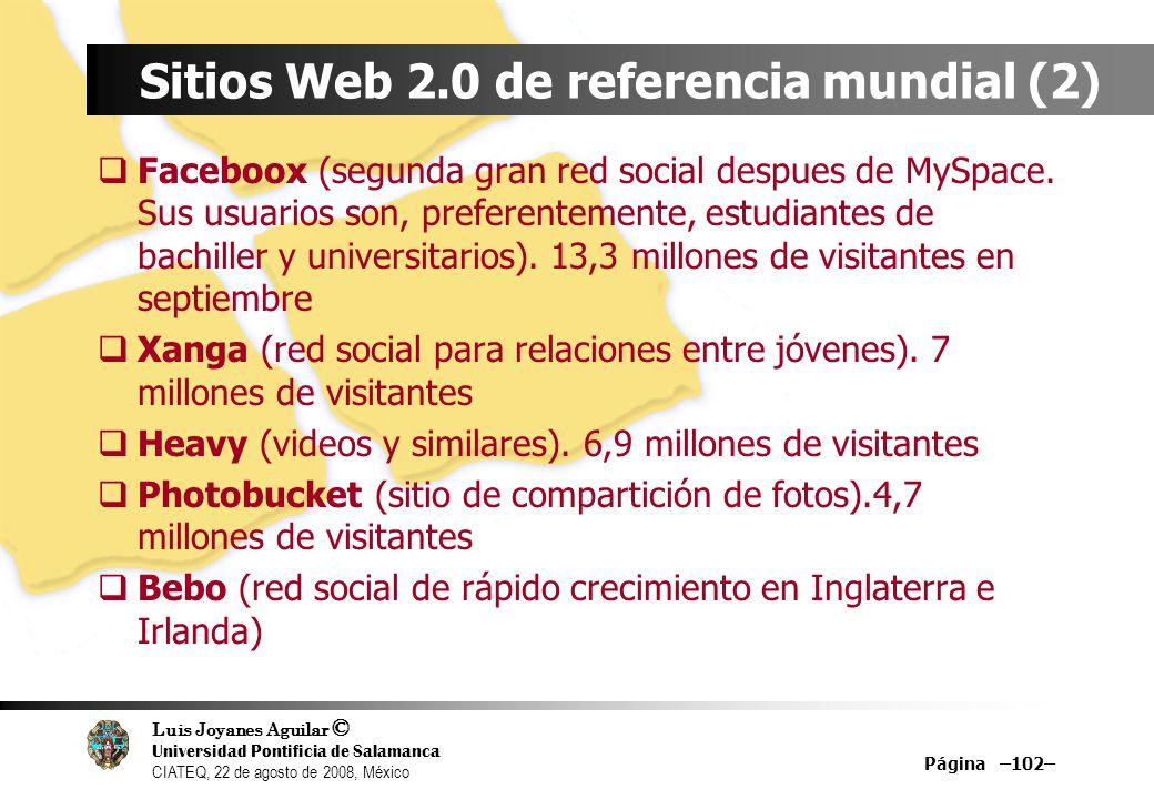 Sitios Web 2.0 de referencia mundial (2)