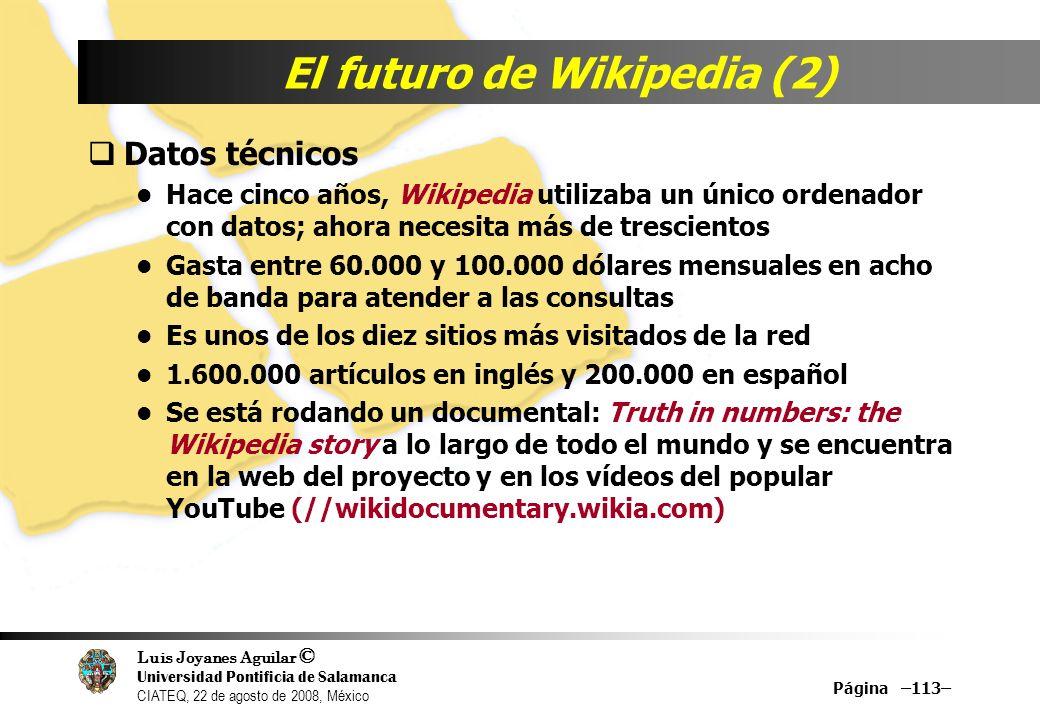 El futuro de Wikipedia (2)