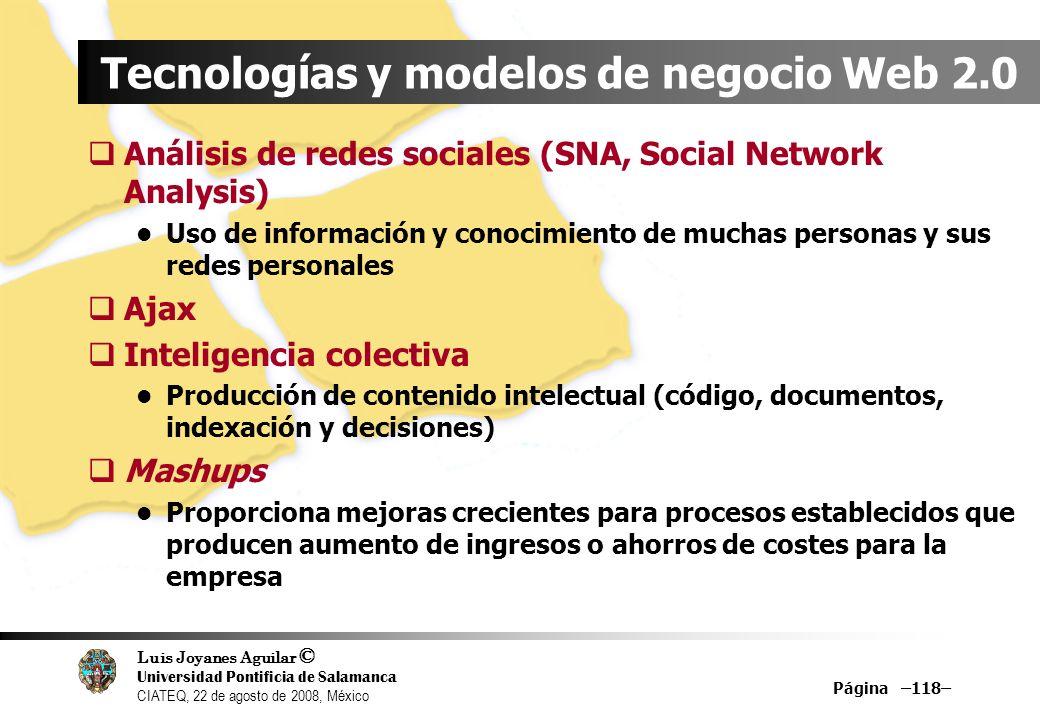 Tecnologías y modelos de negocio Web 2.0