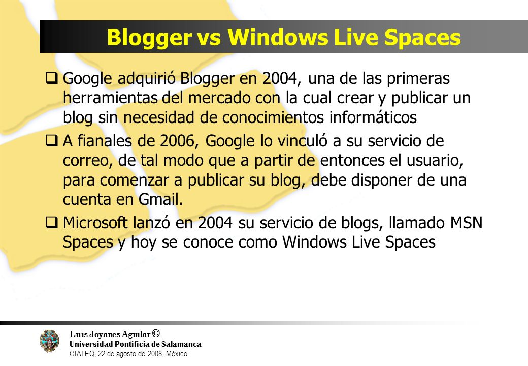 Blogger vs Windows Live Spaces
