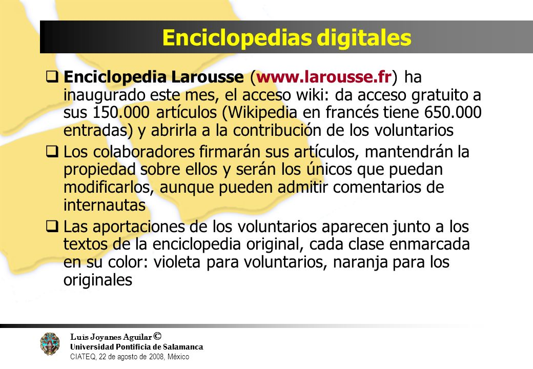 Enciclopedias digitales