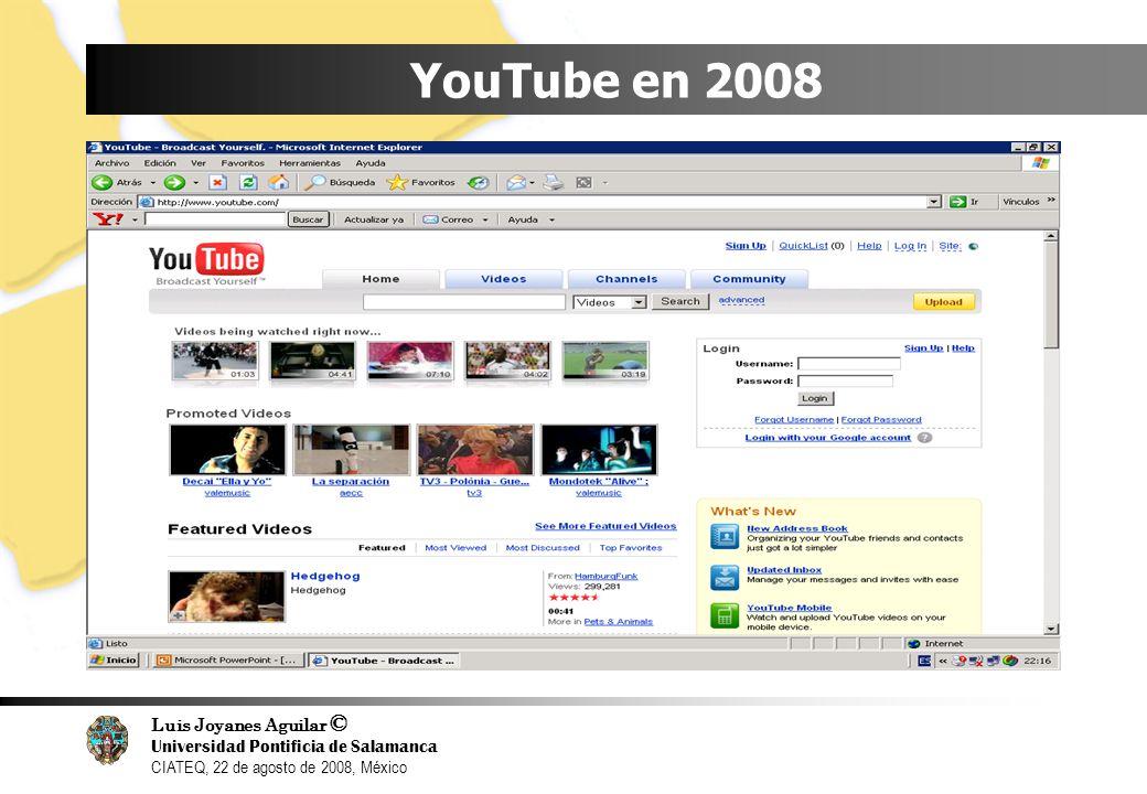 YouTube en 2008