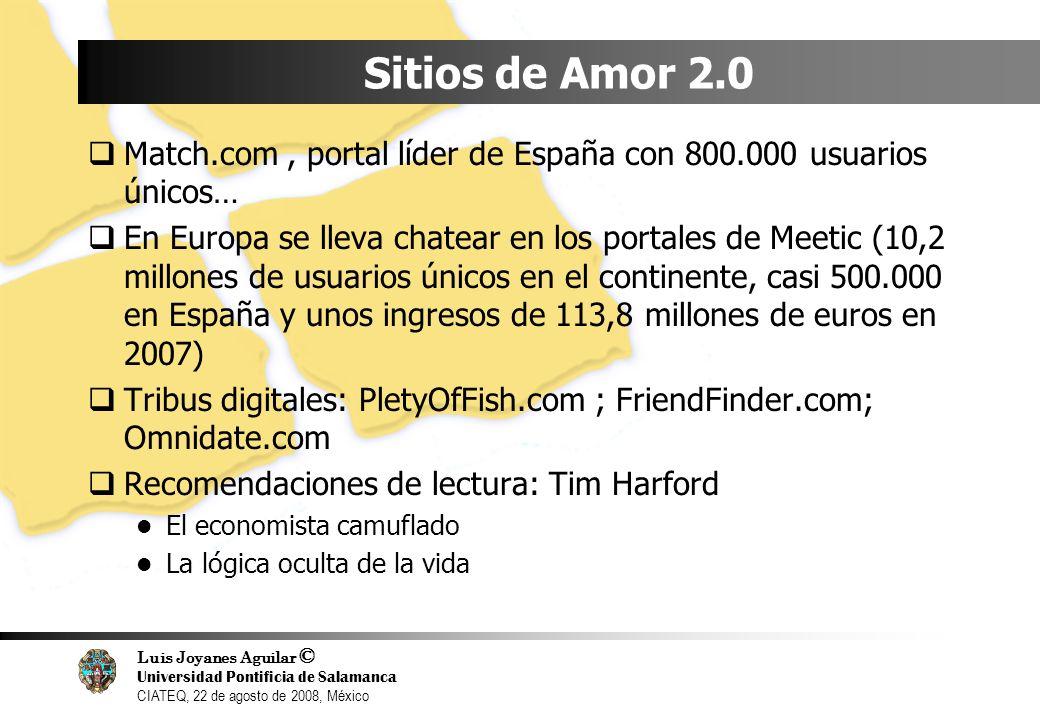 Sitios de Amor 2.0Match.com , portal líder de España con 800.000 usuarios únicos…