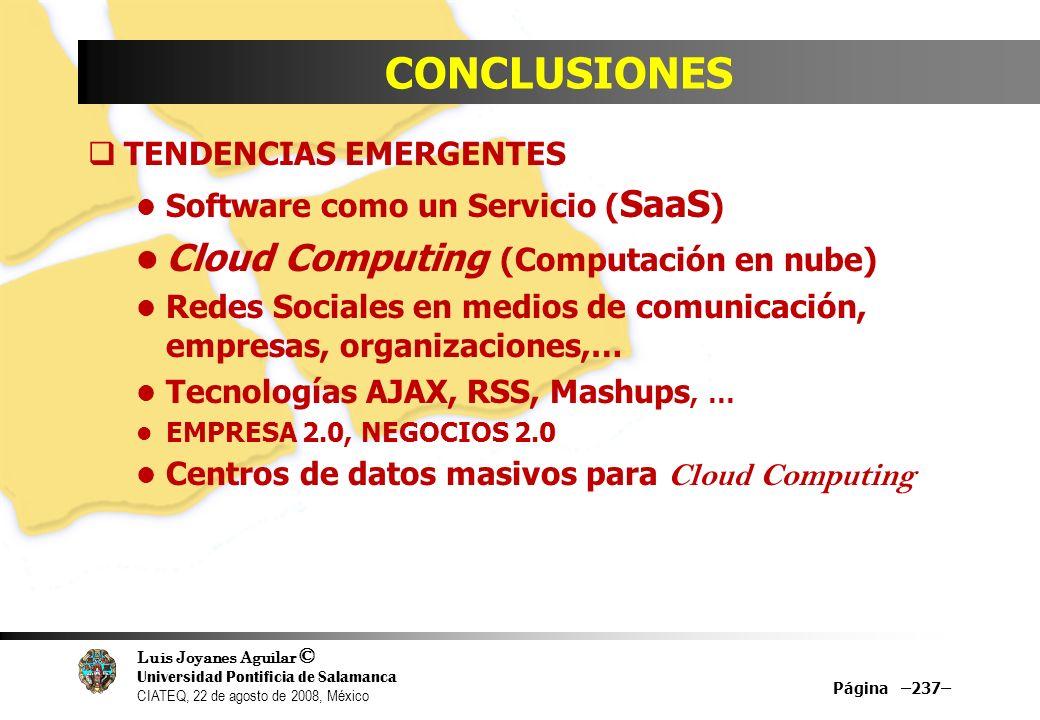 CONCLUSIONES Cloud Computing (Computación en nube)