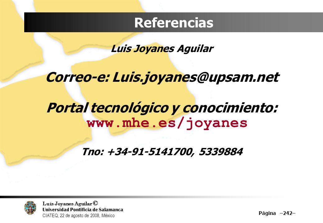 Correo-e: Luis.joyanes@upsam.net