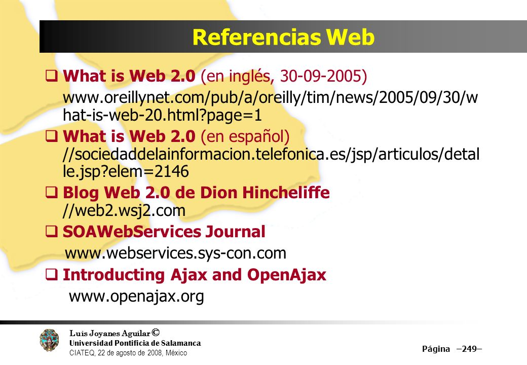 Referencias Web What is Web 2.0 (en inglés, 30-09-2005)