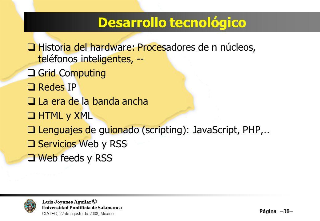Desarrollo tecnológico