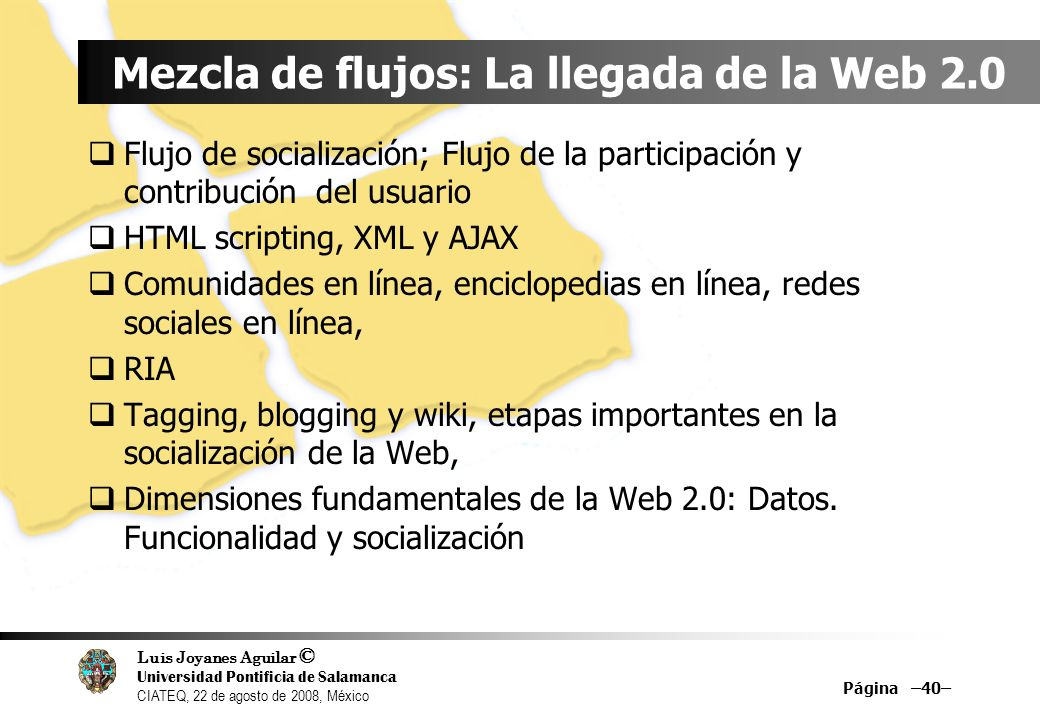 Mezcla de flujos: La llegada de la Web 2.0