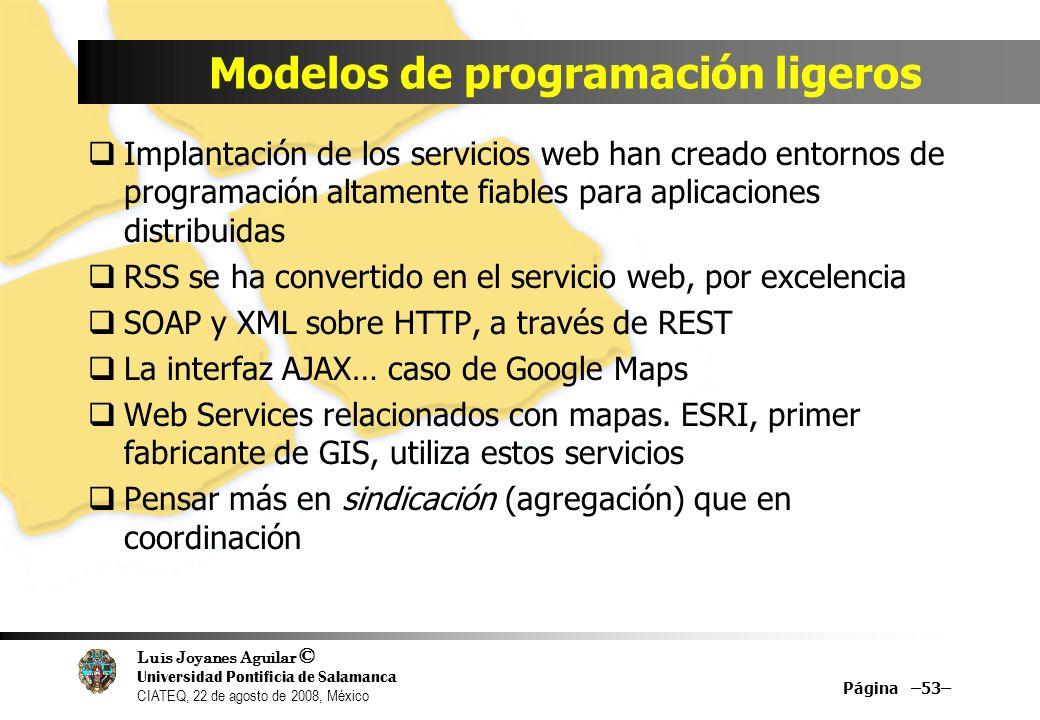 Modelos de programación ligeros