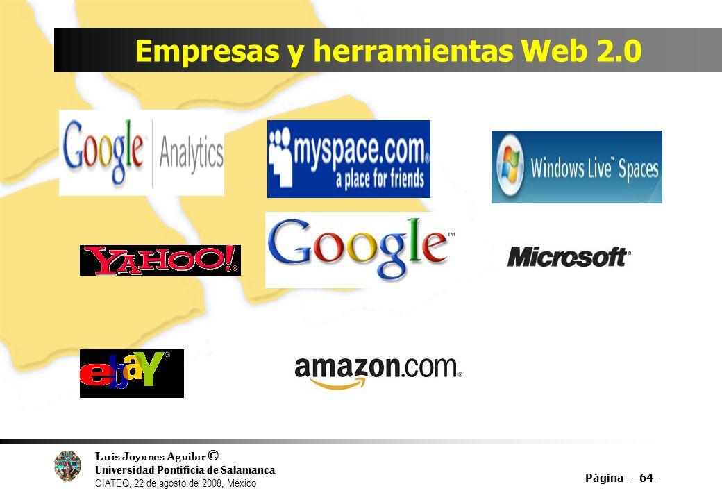 Empresas y herramientas Web 2.0