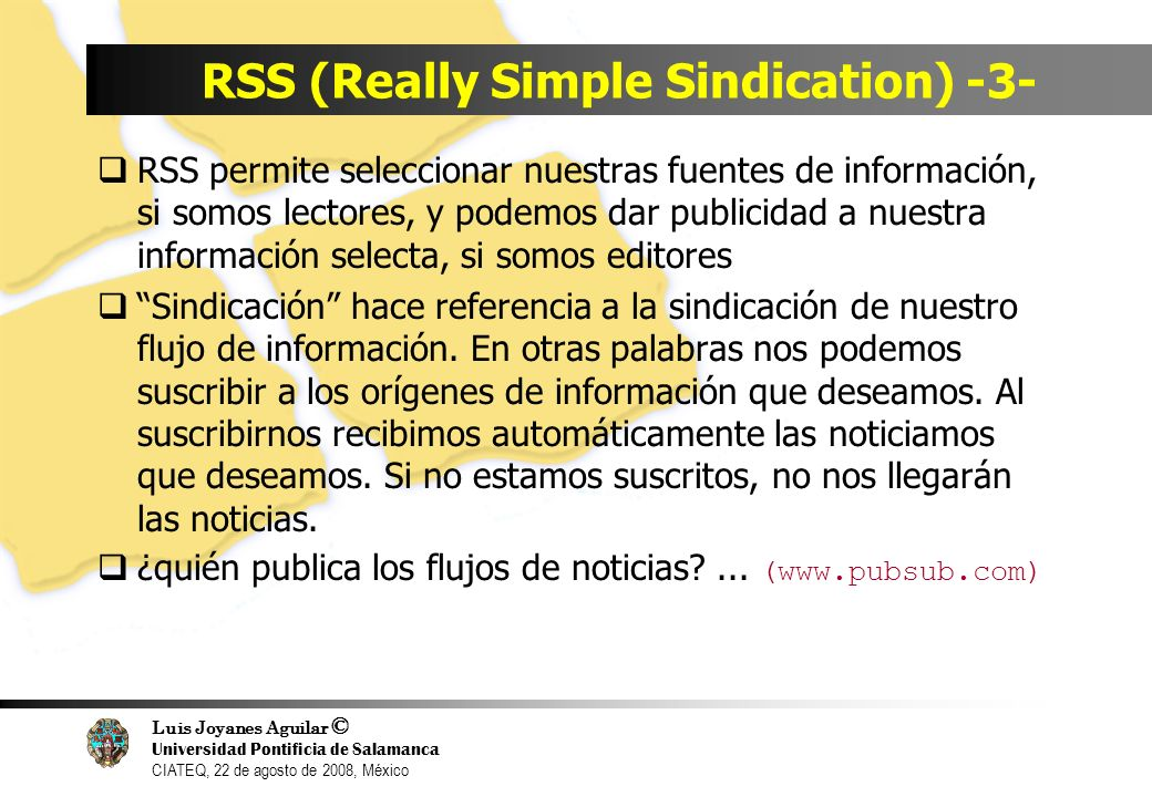 RSS (Really Simple Sindication) -3-