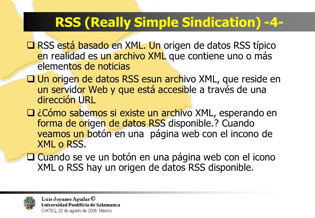 RSS (Really Simple Sindication) -4-