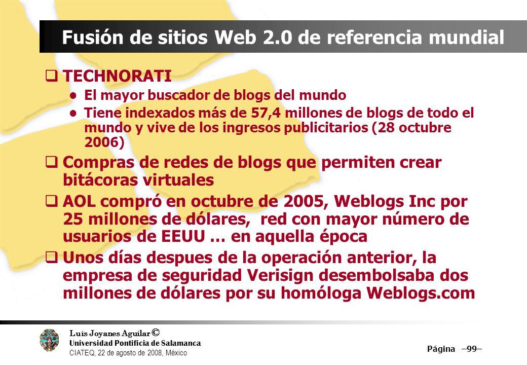 Fusión de sitios Web 2.0 de referencia mundial