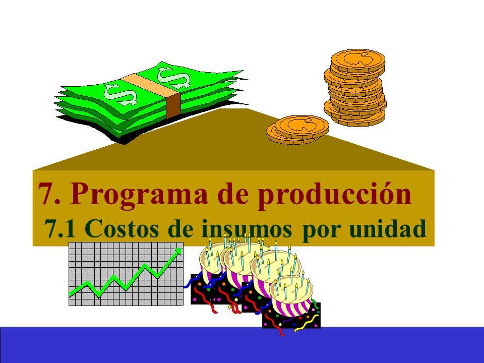 7. Programa de producción