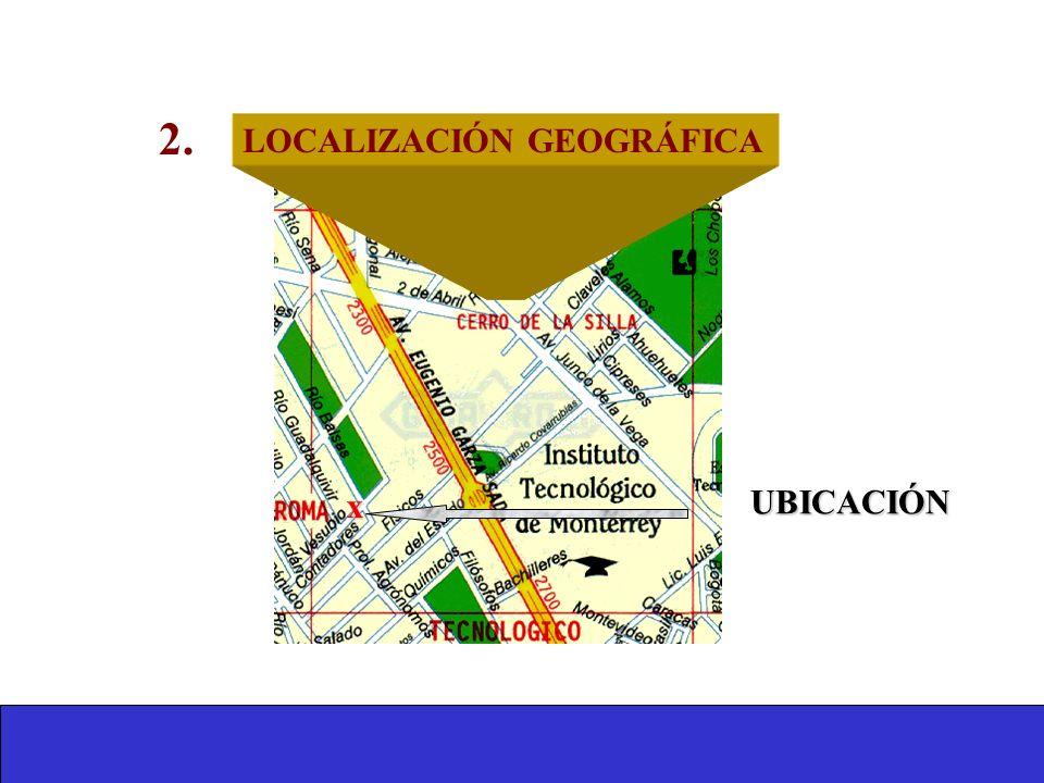 2. LOCALIZACIÓN GEOGRÁFICA x UBICACIÓN