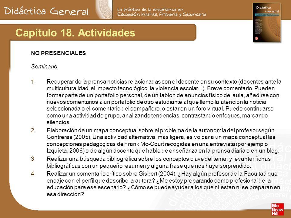 Capítulo 18. Actividades NO PRESENCIALES Seminario