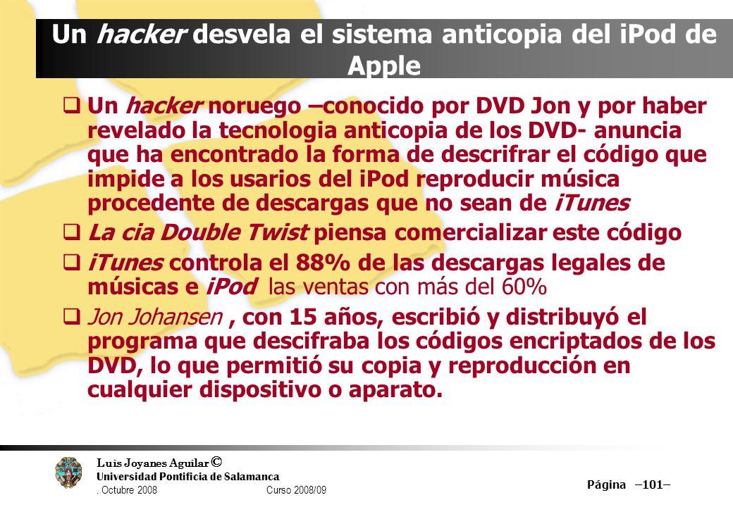 Un hacker desvela el sistema anticopia del iPod de Apple