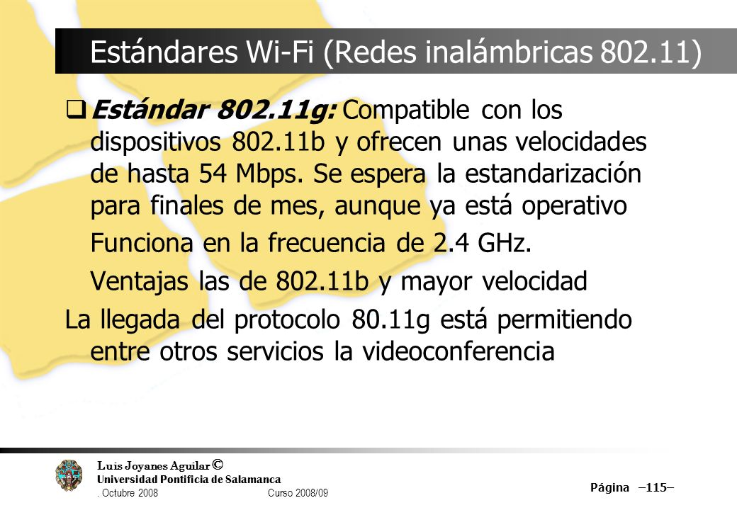 Estándares Wi-Fi (Redes inalámbricas 802.11)