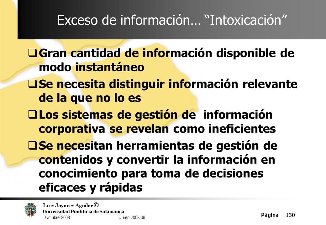 Exceso de información… Intoxicación