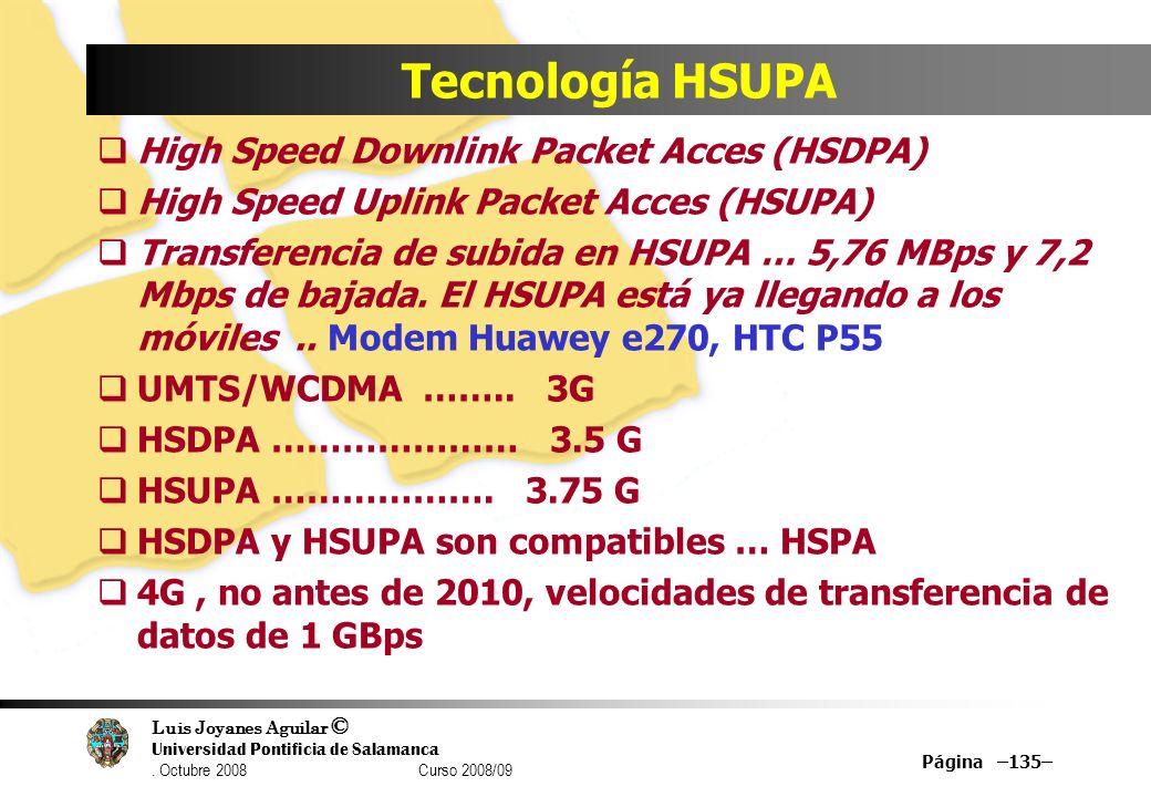 Tecnología HSUPA High Speed Downlink Packet Acces (HSDPA)
