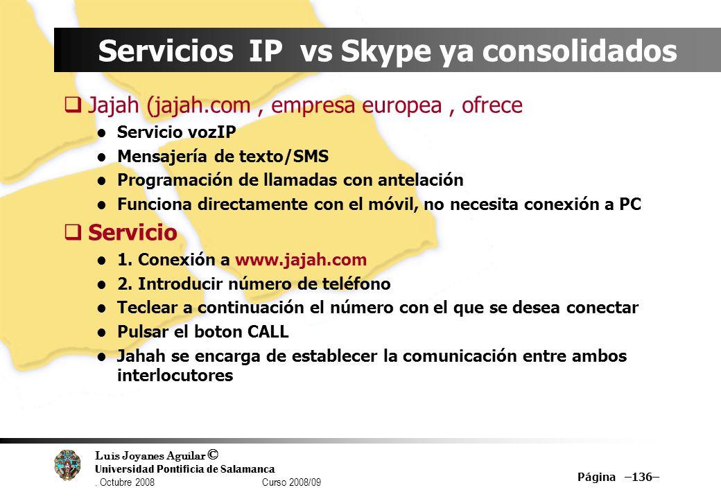 Servicios IP vs Skype ya consolidados