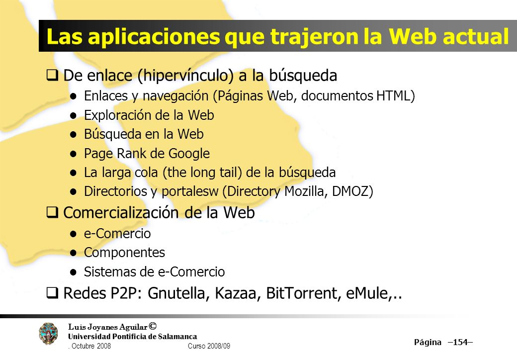 Las aplicaciones que trajeron la Web actual