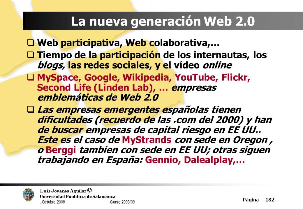 La nueva generación Web 2.0