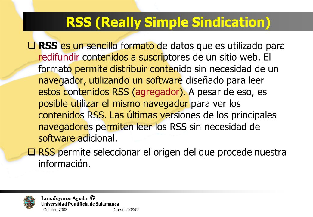 RSS (Really Simple Sindication)