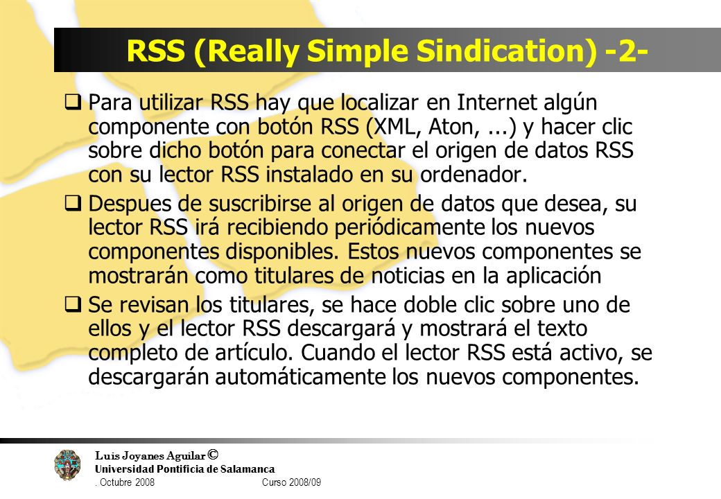 RSS (Really Simple Sindication) -2-
