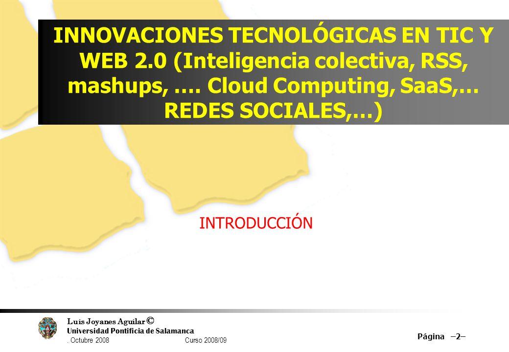 INNOVACIONES TECNOLÓGICAS EN TIC Y WEB 2