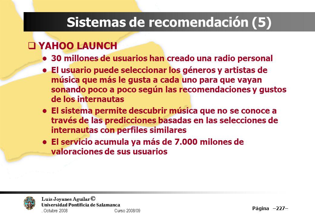 Sistemas de recomendación (5)