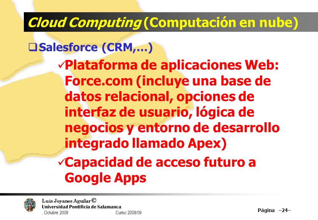 Cloud Computing (Computación en nube)