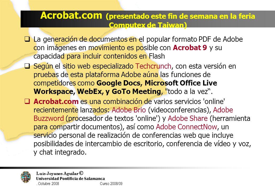 Acrobat.com (presentado este fin de semana en la feria Computex de Taiwan)