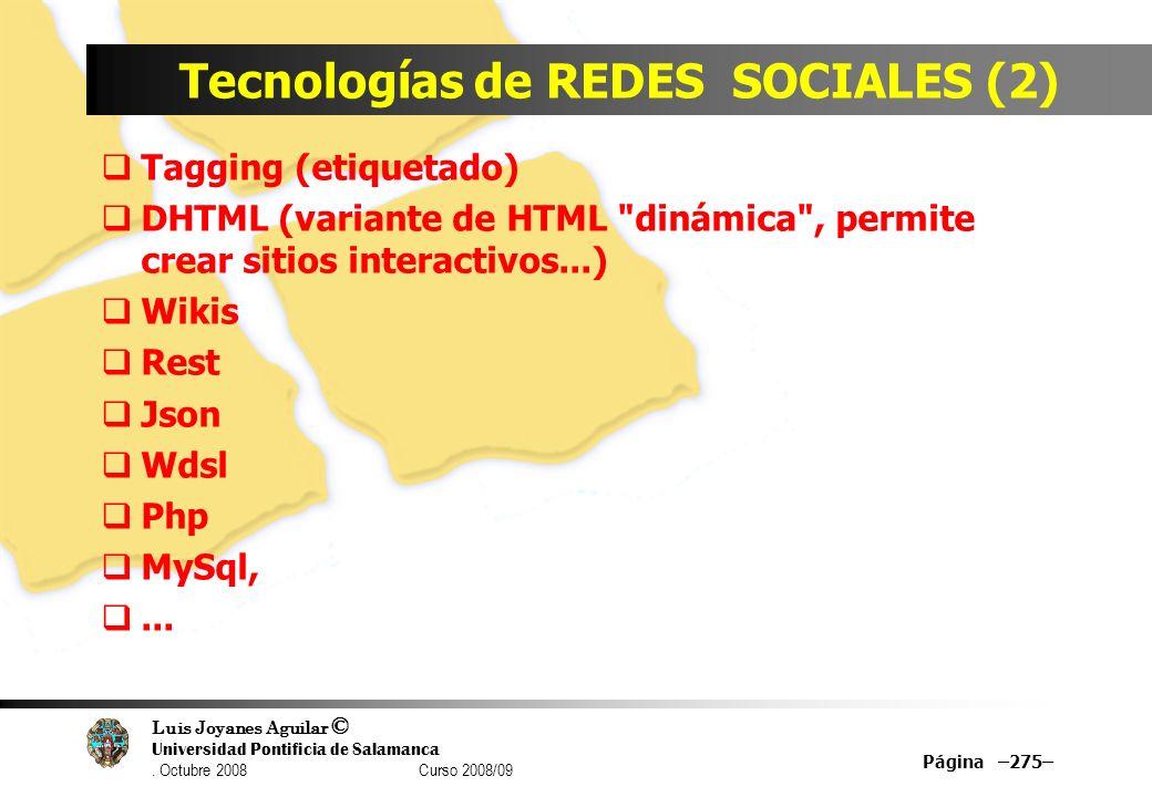 Tecnologías de REDES SOCIALES (2)
