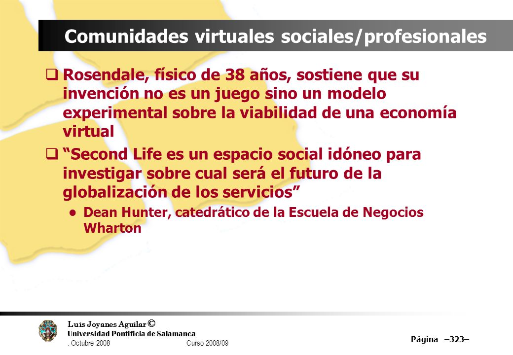 Comunidades virtuales sociales/profesionales