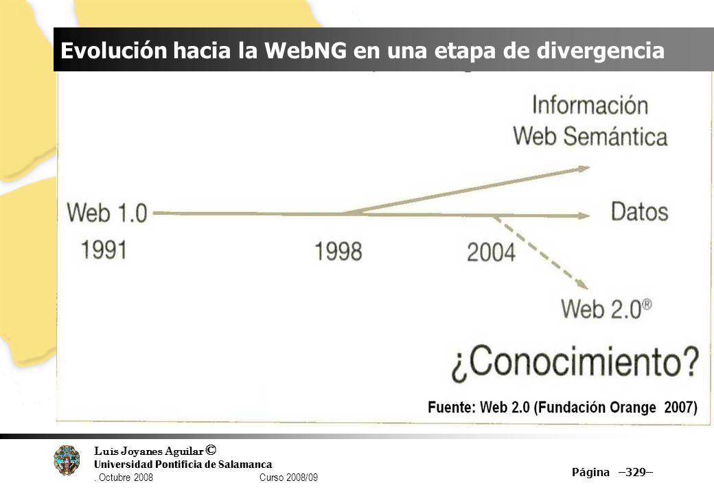 Evolución hacia la WebNG en una etapa de divergencia