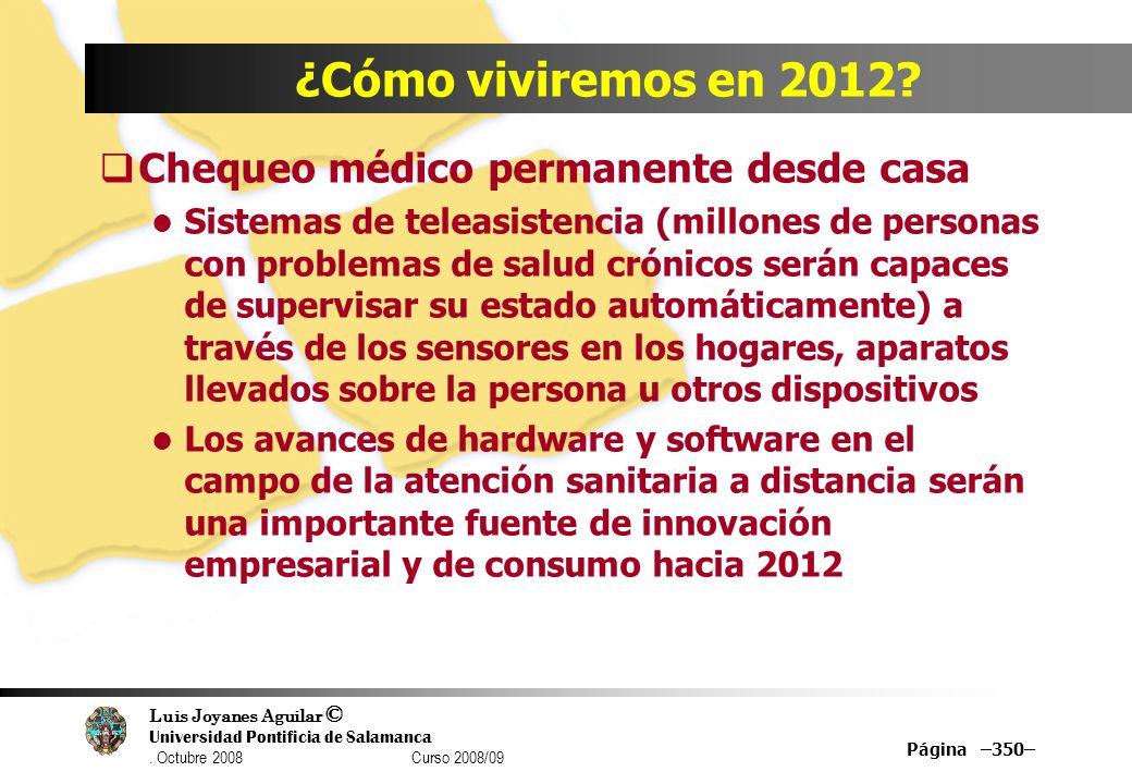 ¿Cómo viviremos en 2012 Chequeo médico permanente desde casa