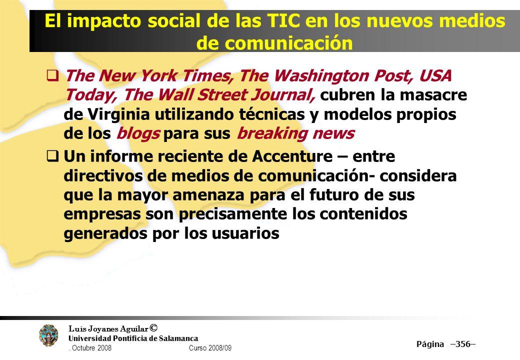 El impacto social de las TIC en los nuevos medios de comunicación