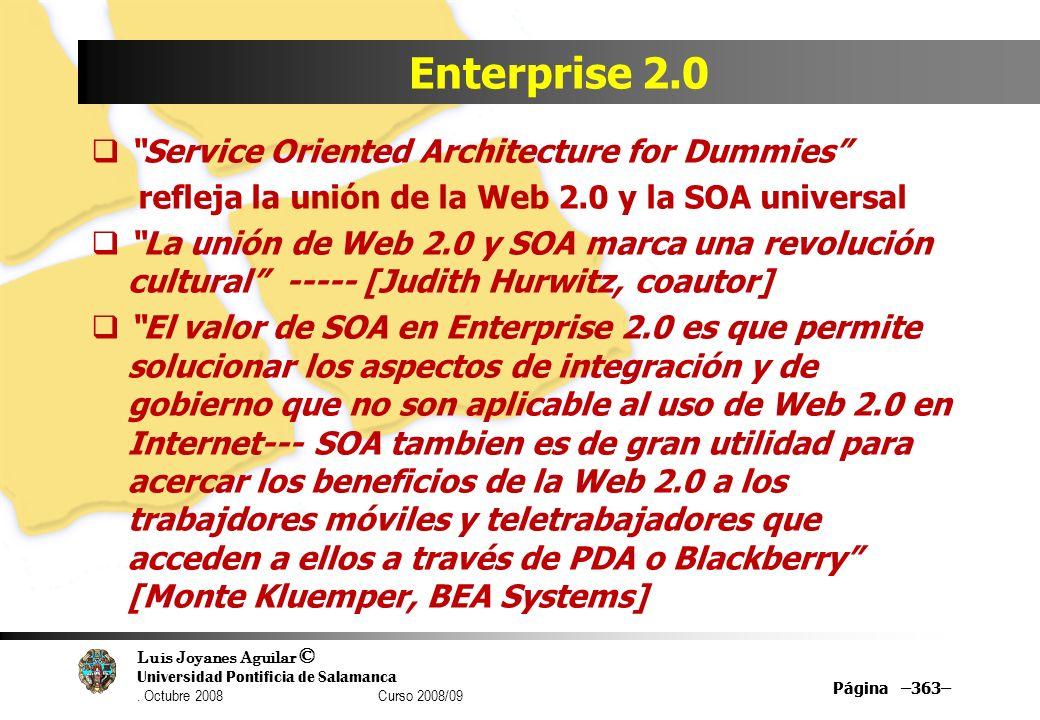 Enterprise 2.0 Service Oriented Architecture for Dummies